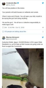 Residents of Lagos complain after heavy downpour left some parts of the state flooded.